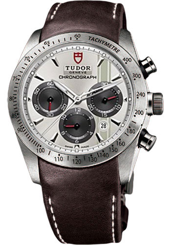 Tudor Watches - Fastrider Chronograph - Brown Leather Strap - Style No: 42000-brownleather-silverindex
