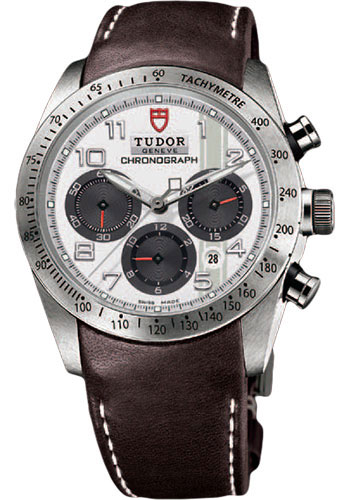 Tudor Watches - Fastrider Chronograph - Brown Leather Strap - Style No: 42000-brownleather-white