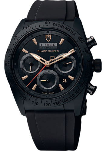 Tudor Watches - Fastrider Blackshield - Style No: 42000CN-rubber