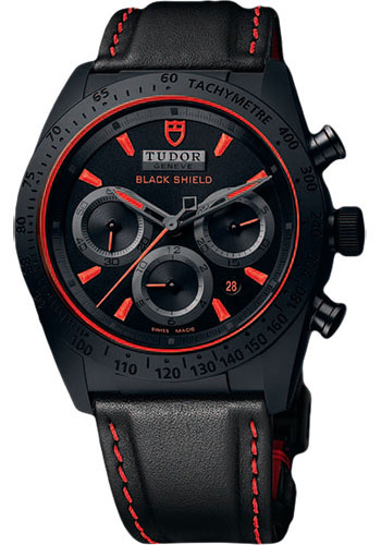 Tudor Watches - Fastrider Blackshield - Style No: 42000CR-leather
