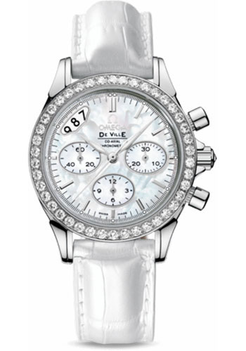 Omega Watches - De Ville Co-Axial Chronograph 35 mm - Stainless Steel - Style No: 422.18.35.50.05.002