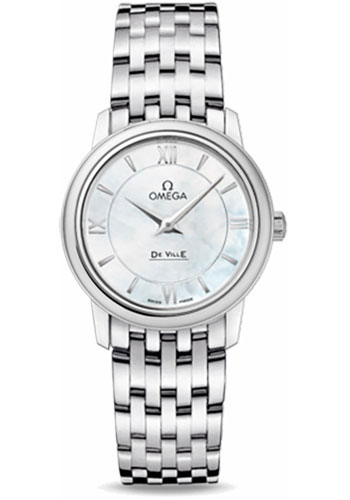 Omega Watches - De Ville Prestige Quartz 27.4 mm - Stainless Steel - Style No: 424.10.27.60.05.001