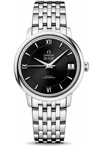 Omega Watches - De Ville Prestige Co-Axial 32.7 mm - Stainless Steel - Style No: 424.10.33.20.01.001