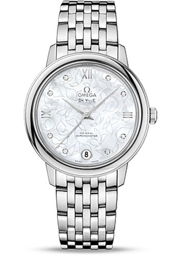 Omega Watches - De Ville Prestige Co-Axial 32.7 mm - Stainless Steel - Style No: 424.10.33.20.55.001