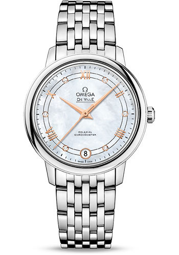 Omega Watches - De Ville Prestige Co-Axial 32.7 mm - Stainless Steel - Style No: 424.10.33.20.55.002