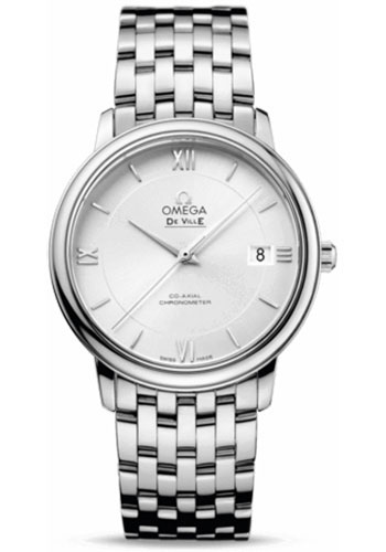 Omega Watches - De Ville Prestige Co-Axial 36.8 mm - Stainless Steel - Style No: 424.10.37.20.02.001