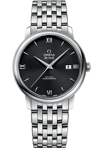 Omega Watches - De Ville Prestige Co-Axial 39.5 mm - Stainless Steel - Style No: 424.10.40.20.01.001