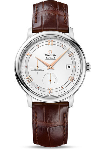 Omega Watches - De Ville Prestige Co-Axial Power Reserve - 39.5 mm - Stainless Steel - Style No: 424.13.40.21.02.002