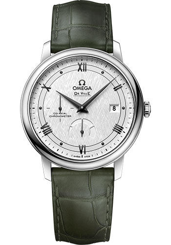 Omega Watches - De Ville Prestige Co-Axial Power Reserve - 39.5 mm - Stainless Steel - Style No: 424.13.40.21.02.004