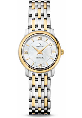 Omega Watches - De Ville Prestige Quartz 24.4 mm - Steel And Yellow Gold - Style No: 424.20.24.60.05.001