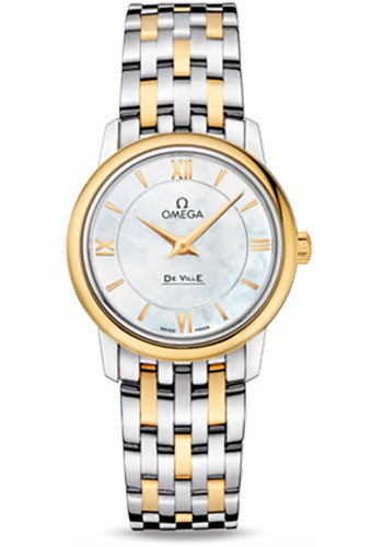 Omega Watches - De Ville Prestige Quartz 27.4 mm - Steel And Yellow Gold - Style No: 424.20.27.60.05.001