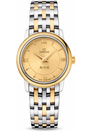 Omega Watches - De Ville Prestige Quartz 27.4 mm - Steel And Yellow Gold - Style No: 424.20.27.60.08.001