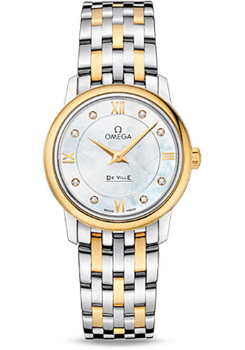 Omega Watches - De Ville Prestige Quartz 27.4 mm - Steel And Yellow Gold - Style No: 424.20.27.60.55.001
