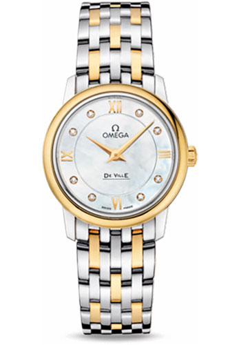 Omega Watches - De Ville Prestige Quartz 27.4 mm - Steel And Yellow Gold - Style No: 424.20.27.60.58.001