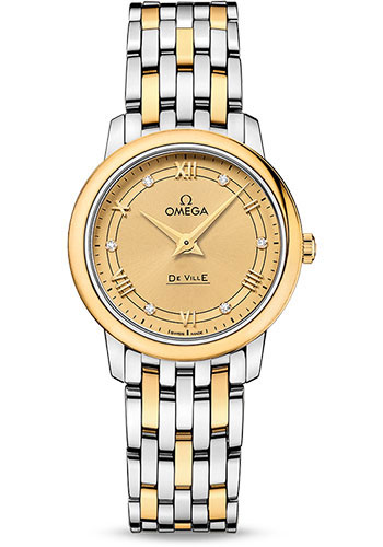 Omega Watches - De Ville Prestige Quartz 27.4 mm - Steel And Yellow Gold - Style No: 424.20.27.60.58.003