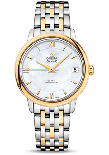Omega Watches - De Ville Prestige Co-Axial 32.7 mm - Steel And Yellow Gold - Style No: 424.20.33.20.05.001