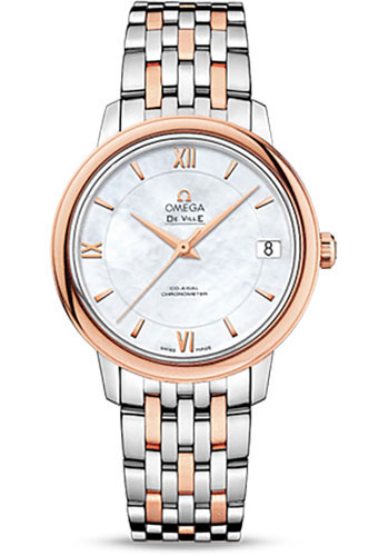 Omega Watches - De Ville Prestige Co-Axial 32.7 mm - Steel And Red Gold - Style No: 424.20.33.20.05.002