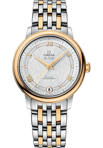 Omega Watches - De Ville Prestige Co-Axial 32.7 mm - Steel And Yellow Gold - Style No: 424.20.33.20.52.001