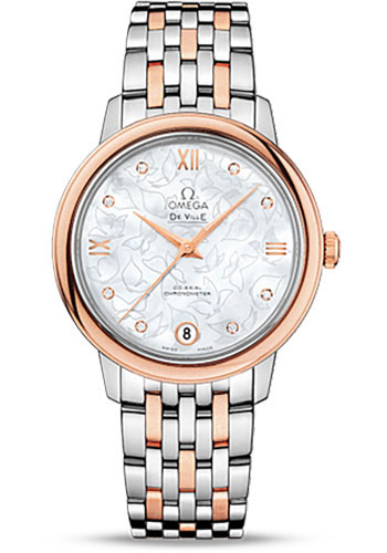 Omega Watches - De Ville Prestige Co-Axial 32.7 mm - Steel And Red Gold - Style No: 424.20.33.20.55.001