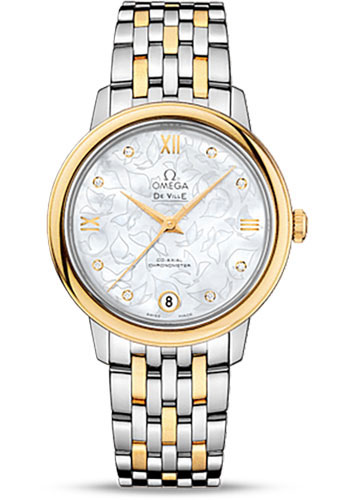 Omega Watches - De Ville Prestige Co-Axial 32.7 mm - Steel And Yellow Gold - Style No: 424.20.33.20.55.002