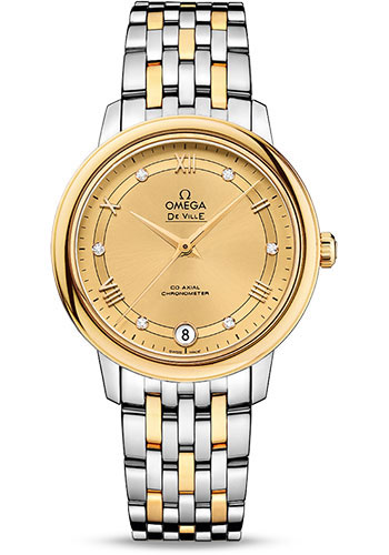 Omega Watches - De Ville Prestige Co-Axial 32.7 mm - Steel And Yellow Gold - Style No: 424.20.33.20.58.002