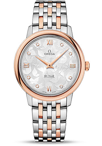 Omega Watches - De Ville Prestige Quartz 32.7 mm - Steel And Red Gold - Style No: 424.20.33.60.52.001