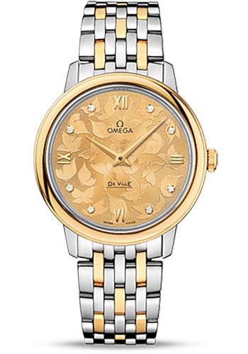 Omega Watches - De Ville Prestige Quartz 32.7 mm - Steel And Yellow Gold - Style No: 424.20.33.60.58.001
