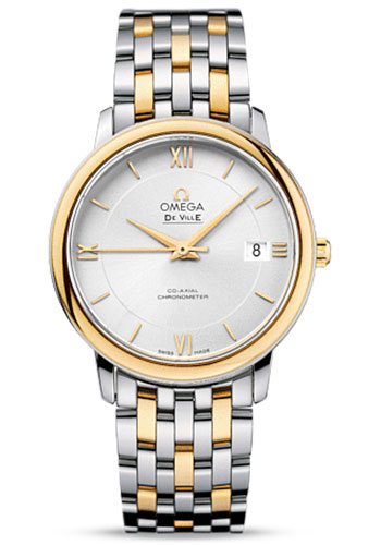 Omega Watches - De Ville Prestige Co-Axial 36.8 mm - Steel And Yellow Gold - Style No: 424.20.37.20.02.001