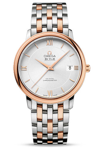 Omega Watches - De Ville Prestige Co-Axial 36.8 mm - Steel And Red Gold - Style No: 424.20.37.20.02.002