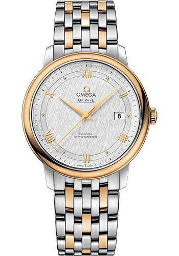 Omega Watches - De Ville Prestige Co-Axial 39.5 mm - Steel And Yellow Gold - Style No: 424.20.40.20.02.001