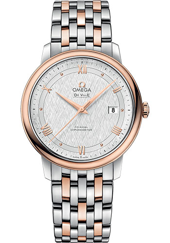 Omega Watches - De Ville Prestige Co-Axial 39.5 mm - Steel And Red Gold - Style No: 424.20.40.20.02.002
