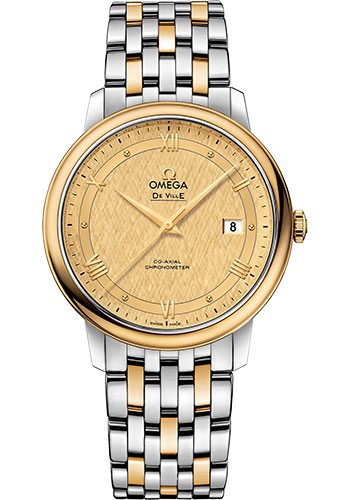 Omega Watches - De Ville Prestige Co-Axial 39.5 mm - Steel And Yellow Gold - Style No: 424.20.40.20.08.001