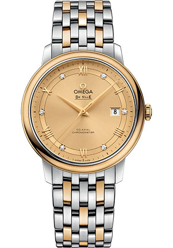 Omega Watches - De Ville Prestige Co-Axial 39.5 mm - Steel And Yellow Gold - Style No: 424.20.40.20.58.001