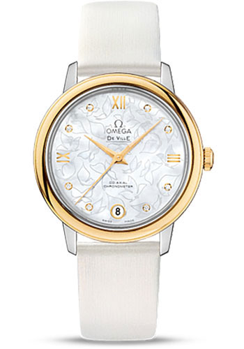 Omega Watches - De Ville Prestige Co-Axial 32.7 mm - Steel And Yellow Gold - Style No: 424.22.33.20.55.002