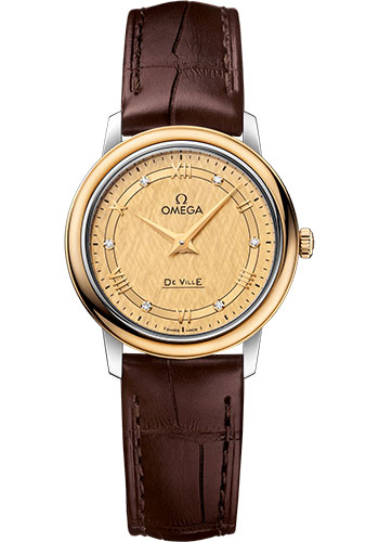 Omega Watches - De Ville Prestige Quartz 27.4 mm - Steel And Yellow Gold - Style No: 424.23.27.60.58.001