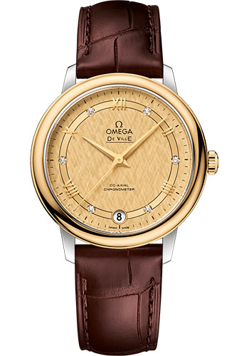 Omega Watches - De Ville Prestige Co-Axial 32.7 mm - Steel And Yellow Gold - Style No: 424.23.33.20.58.001