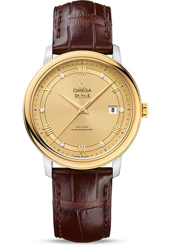 Omega Watches - De Ville Prestige Co-Axial 39.5 mm - Steel And Yellow Gold - Style No: 424.23.40.20.58.001
