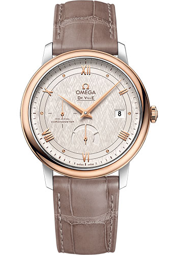 Omega Watches - De Ville Prestige Co-Axial Power Reserve - 39.5 mm - Steel And Red Gold - Style No: 424.23.40.21.02.001