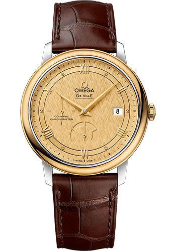 Omega Watches - De Ville Prestige Co-Axial Power Reserve - 39.5 mm - Steel And Yellow Gold - Style No: 424.23.40.21.08.001