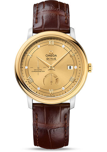 Omega Watches - De Ville Prestige Co-Axial Power Reserve 39.5 mm - Steel And Yellow Gold - Style No: 424.23.40.21.58.001