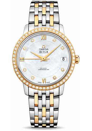 Omega Watches - De Ville Prestige Co-Axial 32.7 mm - Steel And Yellow Gold - Style No: 424.25.33.20.55.001
