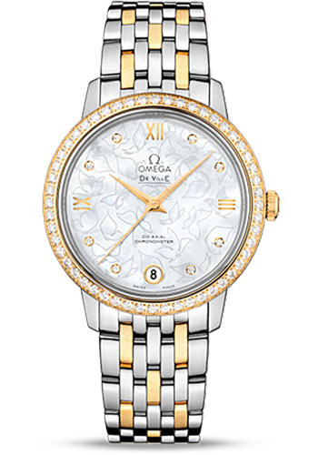 Omega Watches - De Ville Prestige Co-Axial 32.7 mm - Steel And Yellow Gold - Style No: 424.25.33.20.55.004