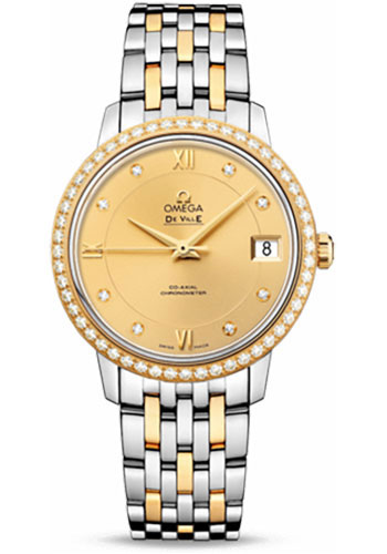 Omega Watches - De Ville Prestige Co-Axial 32.7 mm - Steel And Yellow Gold - Style No: 424.25.33.20.58.001