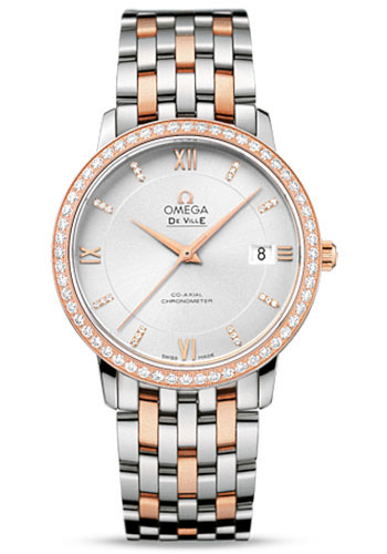 Omega Watches - De Ville Prestige Co-Axial 36.8 mm - Steel And Red Gold - Style No: 424.25.37.20.52.001