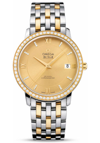 Omega Watches - De Ville Prestige Co-Axial 36.8 mm - Steel And Yellow Gold - Style No: 424.25.37.20.58.001