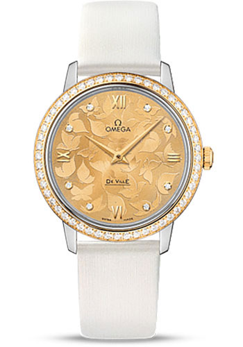 Omega Watches - De Ville Prestige Quartz 32.7 mm - Steel And Yellow Gold - Style No: 424.27.33.60.58.001