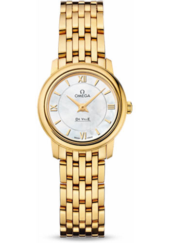 Omega Watches - De Ville Prestige Quartz 24.4 mm - Yellow Gold - Style No: 424.50.24.60.05.001