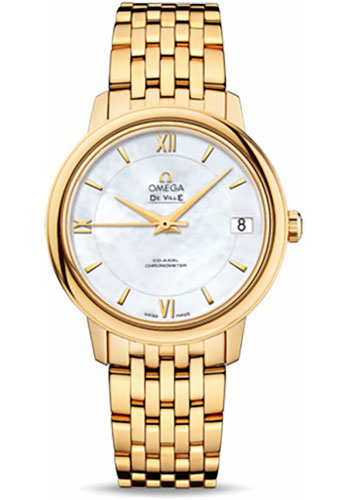 Omega Watches - De Ville Prestige Co-Axial 32.7 mm - Yellow Gold - Style No: 424.50.33.20.05.001