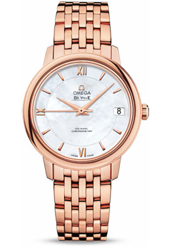 Omega Watches - De Ville Prestige Co-Axial 32.7 mm - Red Gold - Style No: 424.50.33.20.05.002