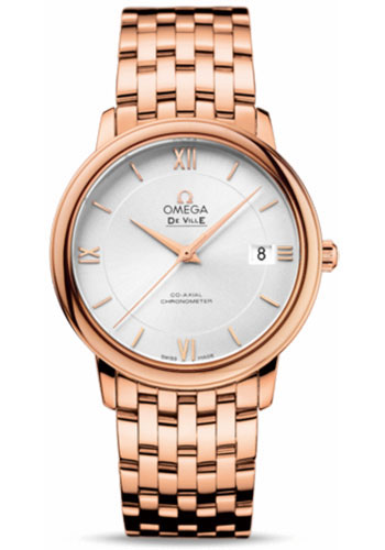 Omega Watches - De Ville Prestige Co-Axial 36.8 mm - Red Gold - Style No: 424.50.37.20.02.001